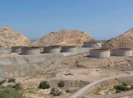 Oman oil storage