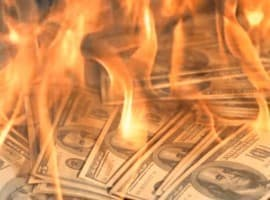 Benjamin Franklin on fire
