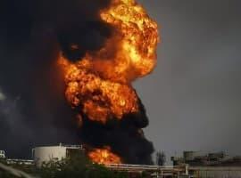Explosion Pemex refinery
