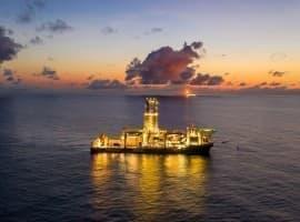 Guyana drilling ship