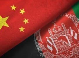 China Afghani flags