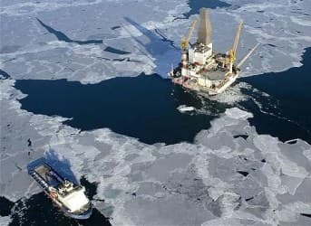 Gazprom Flag Planted Firmly in Arctic