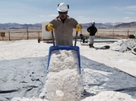 Lithium mining South America