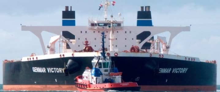 Oil tanker front