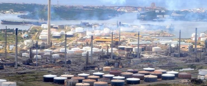 PDVSA crude refinery