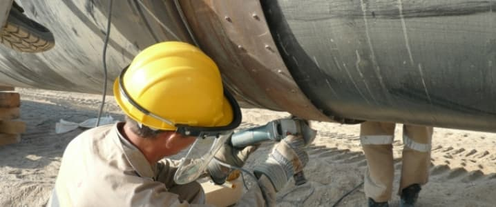 Oil pipeline welding