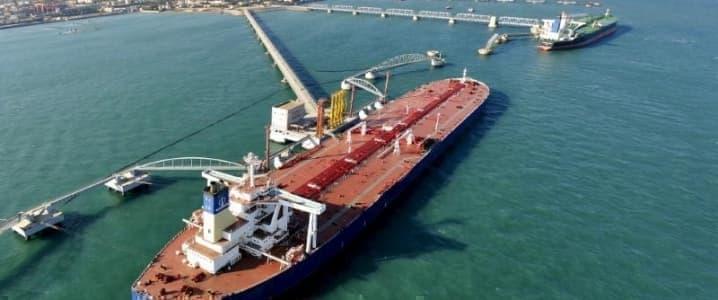 China oil port