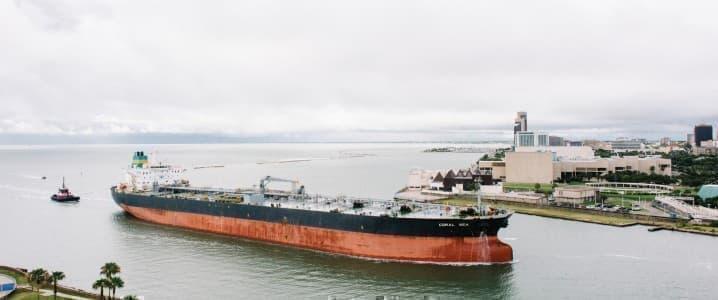 Oil tanker Gulf coast