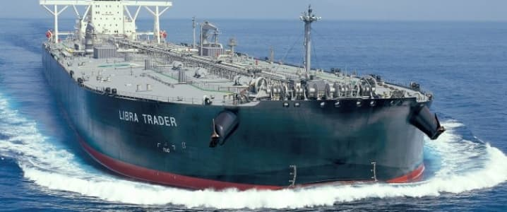 Oil tanker at sea