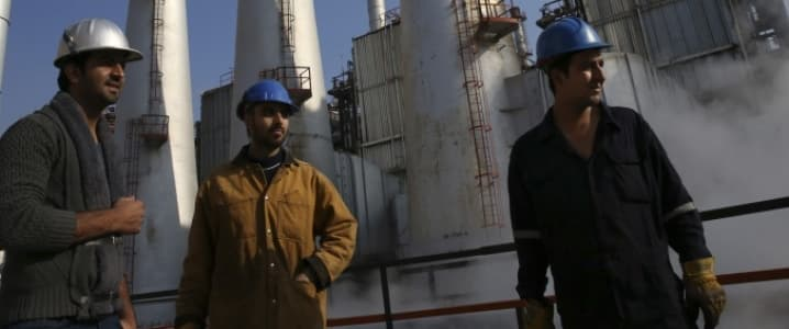 Iran oil workers