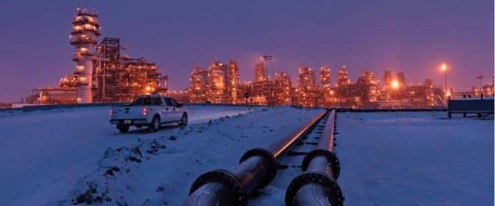 Oil sands plant