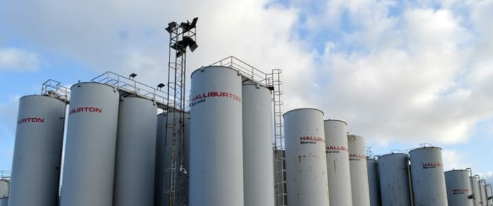 Halliburton storage tanks