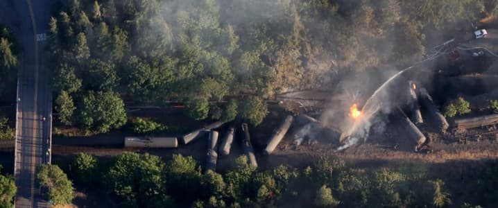 Oil Train Derails