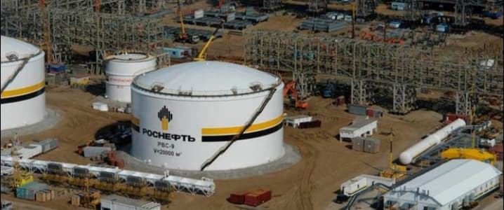 Rosneft oil tanks