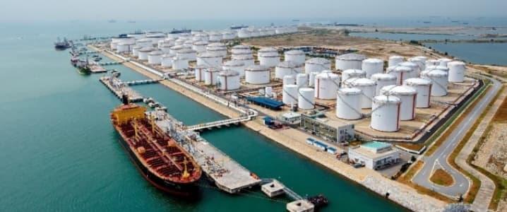 Harbor oil storage