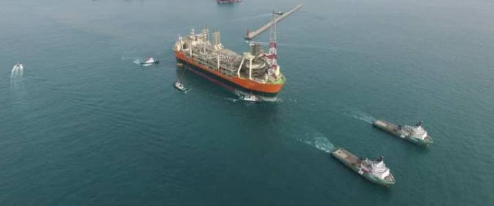 FPSO at sea