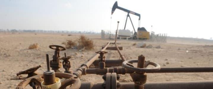 oil rig desert