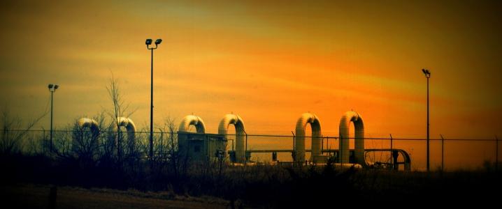 Canada oil dusk