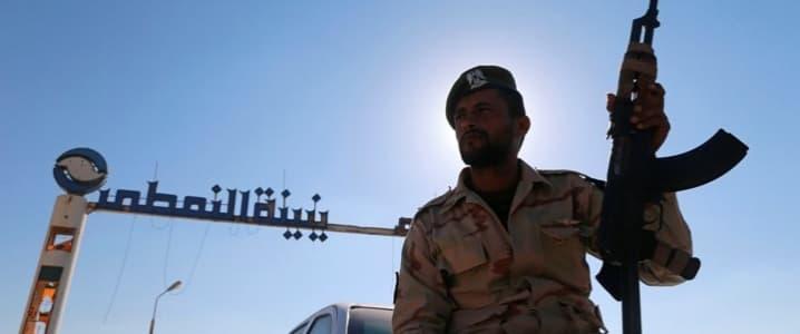 Libya armed guard