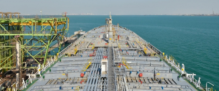 Oil tanker loading