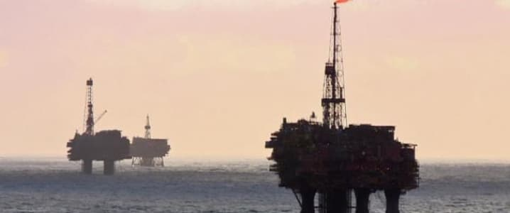 Offshore rigs parked