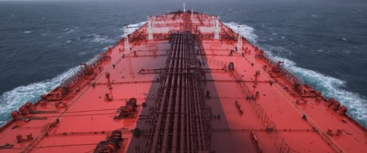 supertanker at open sea