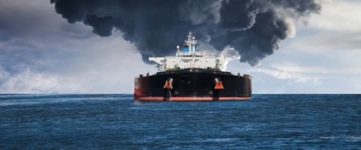 Tanker On Fire