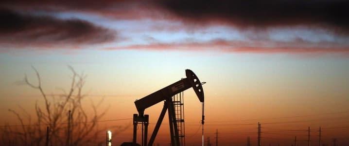 oil field dusk