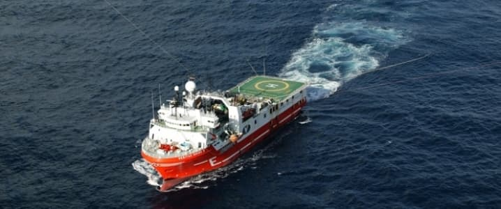 Subsea seismic vessel