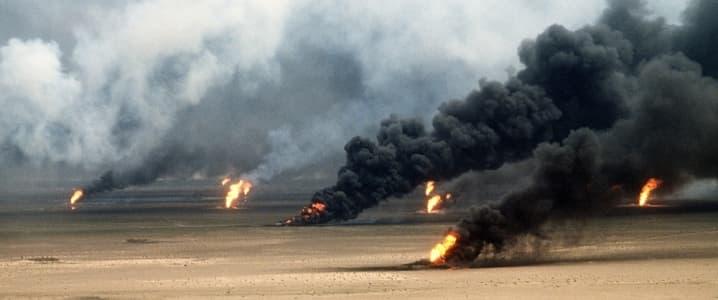 Oil field fires