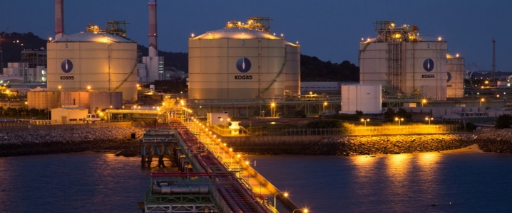South Korean oil terminal