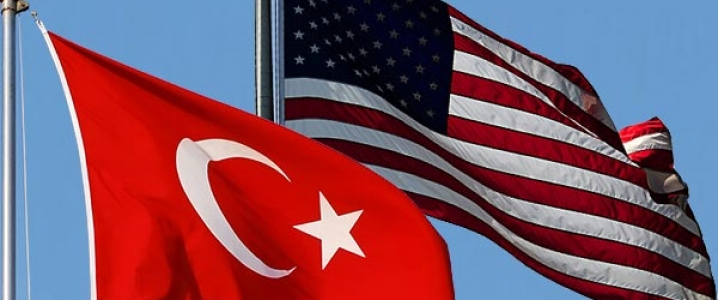 Turkish US flags