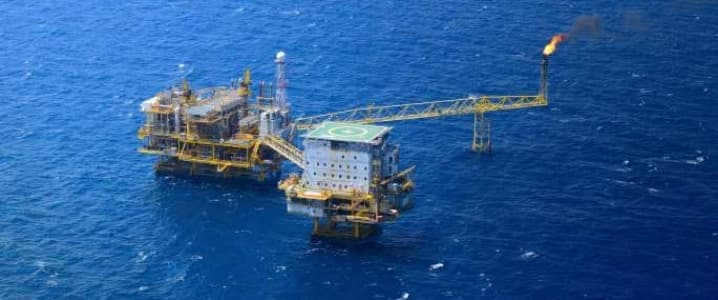 Offshore gas field