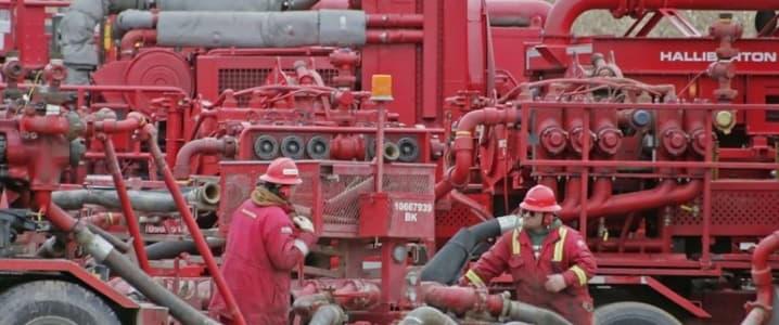 Fracking crew