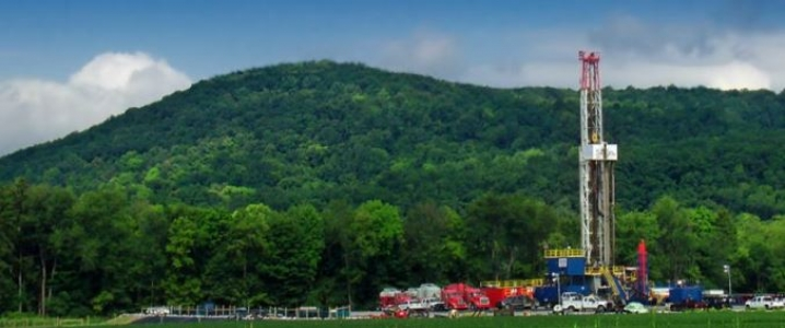 Marcellus shale gas rig