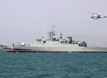 Iran Deploys New Warship in Caspian Sea