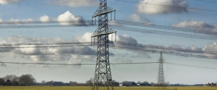 Hoogspannings mast