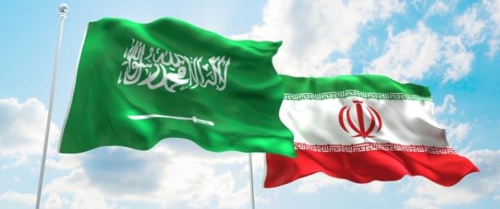 Iran and Saudi Arabia Flags