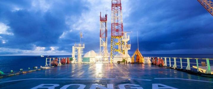 offshore rig Bonga Shell