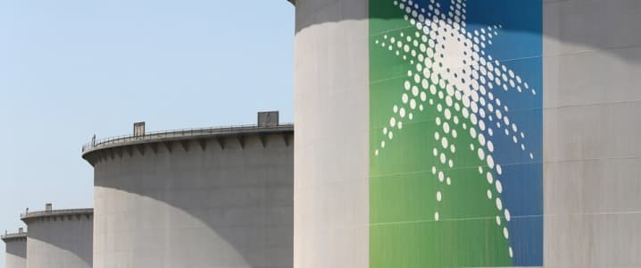Aramco storage tanks