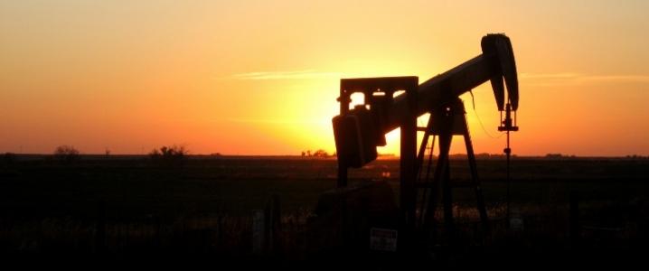 Sunset oil rig