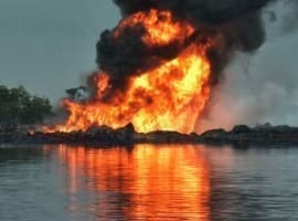 Oil Thieves Cause Fire On Nigerian Oil Block