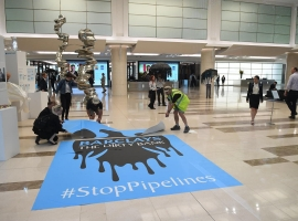 Greenpeace Daubs Barclays Logo In Oil Sands Protest