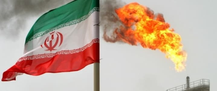 Iran oil flaring
