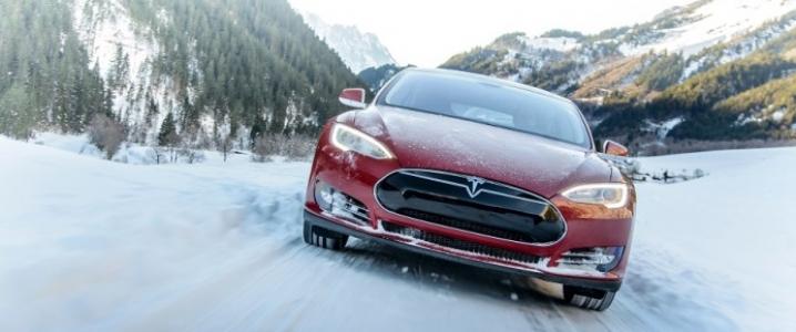 Tesla snow
