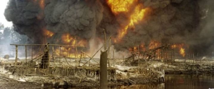 Nigeria, Explosion
