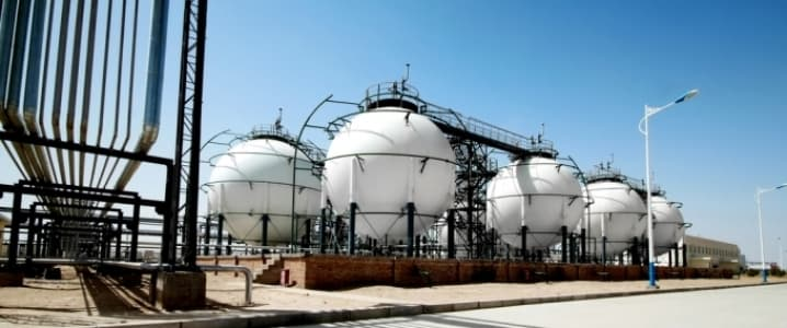 Natgas storage facility