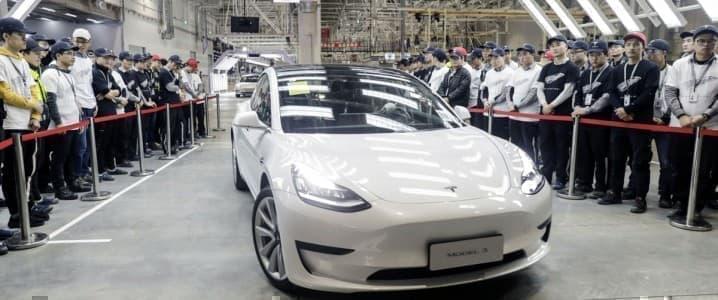 Tesla model 3 China
