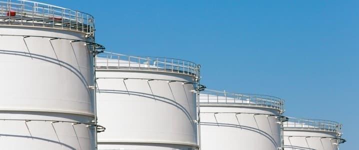 Crude storage tanks