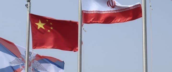 China Iran flags